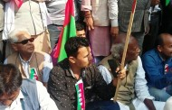 Aavash Labh sings during protest of Federal Alliance near Singadarbar.
