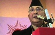 PM Oli Addressing a special national party cadres' gathering at Sauraha of Chitwan