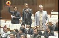 Protest in Parliament - 06 DEC 2015