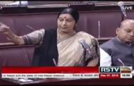 Sushma Swaraj talking Blockade of Nepal