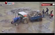 मकवानपुरमा नदीजन्य सामग्रीको उत्खननले कानूनका सबै सीमाहरु पार गर्दै - MAIN NEWS