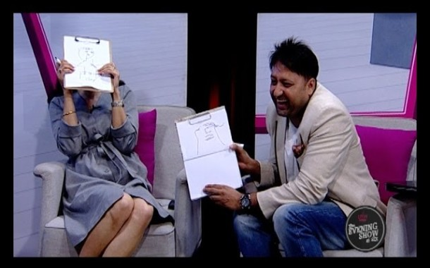 Funny Moments with Naresh Bhattarai & Sugarika KC-Who Draws Better?  (LIVON-THE EVENING SHOW AT SIX)