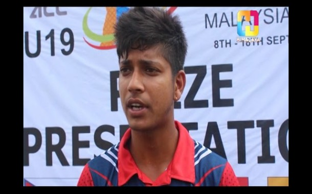 SANDEEP LAMICHANNE - Player of the Series - CRICKET AND MORE