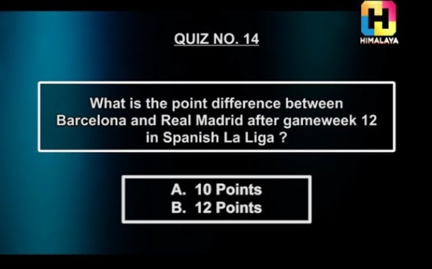 Point Gap between Barcelona & Real Madrid | 10 or 12 | NOTGF